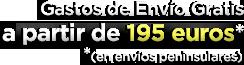Gastos de env�o gratis a partir de 195 euros